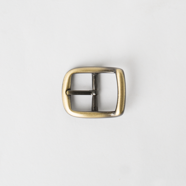 純銅日型皮帶頭 古銅 2.0cm