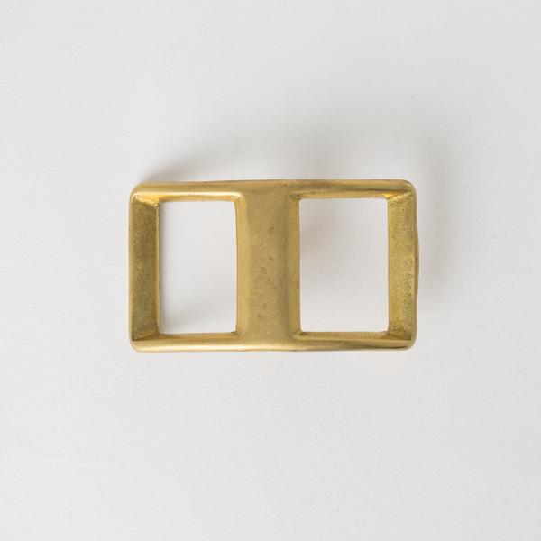 日製純銅日型活動釦環 黃銅色 2.4cm