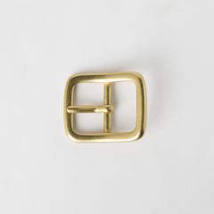 純銅日型皮帶頭 黃銅色 2.5cm