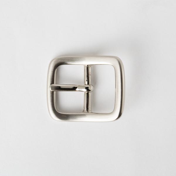 純銅日型皮帶頭 鎳白色 2.5cm