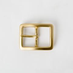 純銅皮帶頭 黃銅色 3cm