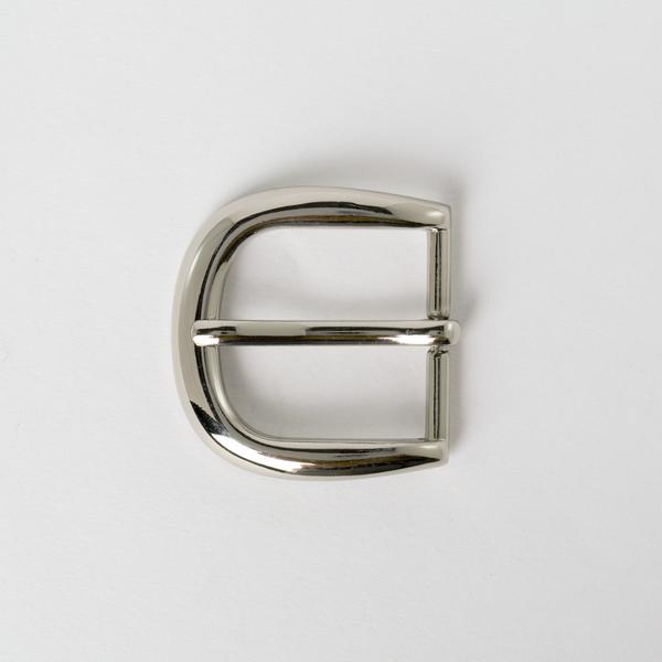 純銅皮帶頭 鎳白色 3cm