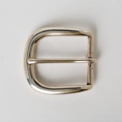 銅製皮帶頭 鎳白色 3.8cm
