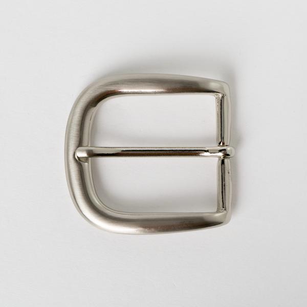 銅製皮帶頭 鎳白色 4cm