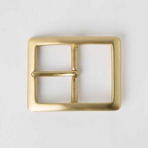 純銅日型皮帶頭 黃銅色 4cm