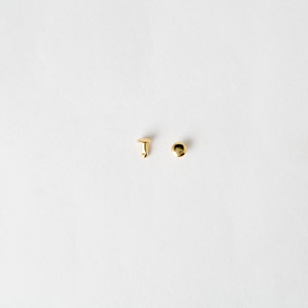 純銅固定釦 金色 4.5*4.5mm 10組