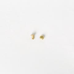 純銅固定釦 黃銅色 4.5*4.5mm 15組