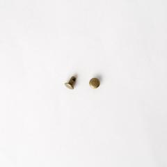 固定釦 古銅色 6*6mm 30組