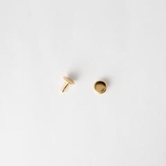 Flat Rivet Gold 8*8mm 10 Set