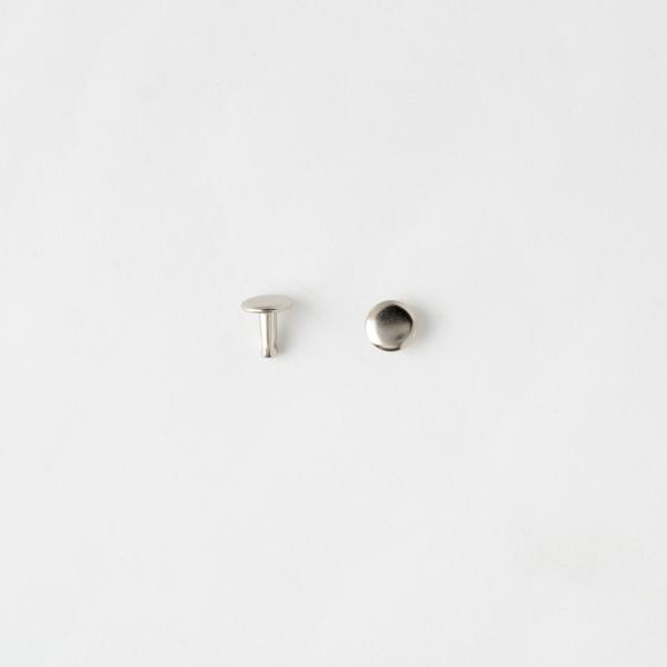 固定釦 鎳白色 8*8mm 30組