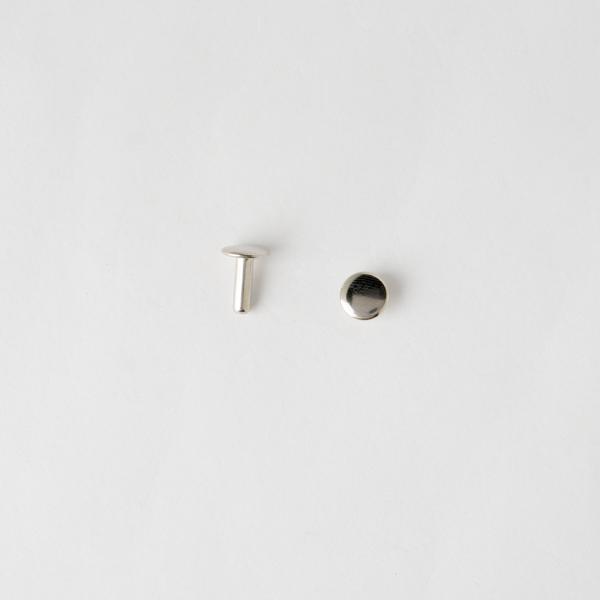固定釦 鎳白色 8*10mm 30組
