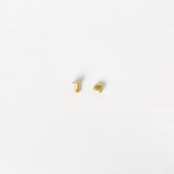 純銅固定釦 黃銅色 6*6mm 10組