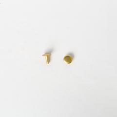 純銅固定釦 黃銅色 8*8mm 8組
