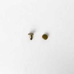 純銅固定釦 古銅色 8*8mm 8組