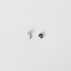 純銅固定釦 鎳白色 8*8mm 8組