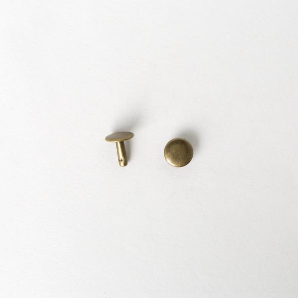 純銅固定釦 古銅色 10*10mm 6組