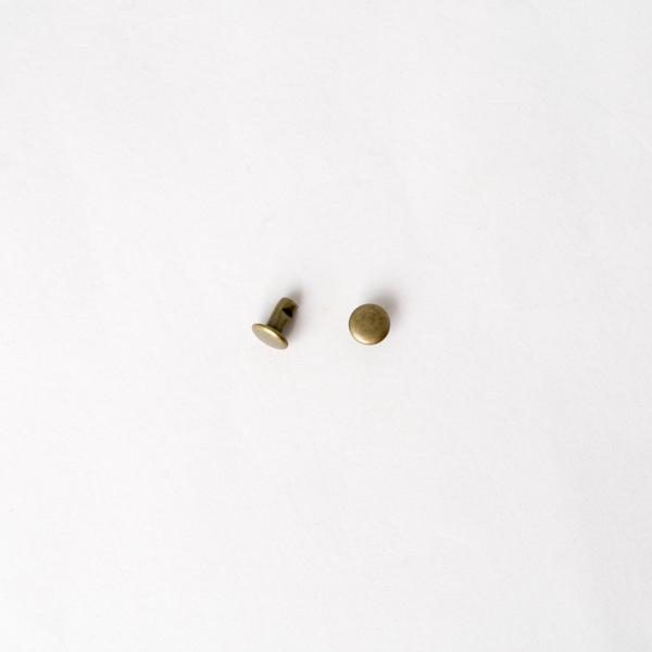 固定釦 古銅色 6mm 200+-5%組 不折扣