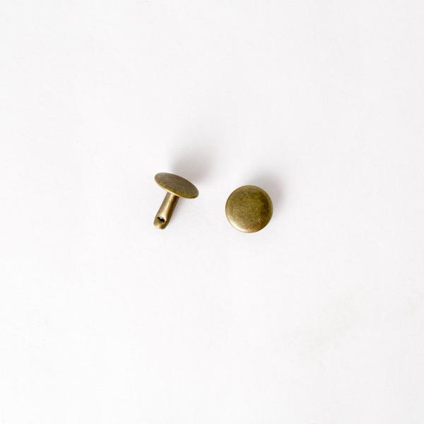固定釦 古銅色 10*10mm 200+-5%組 不折扣