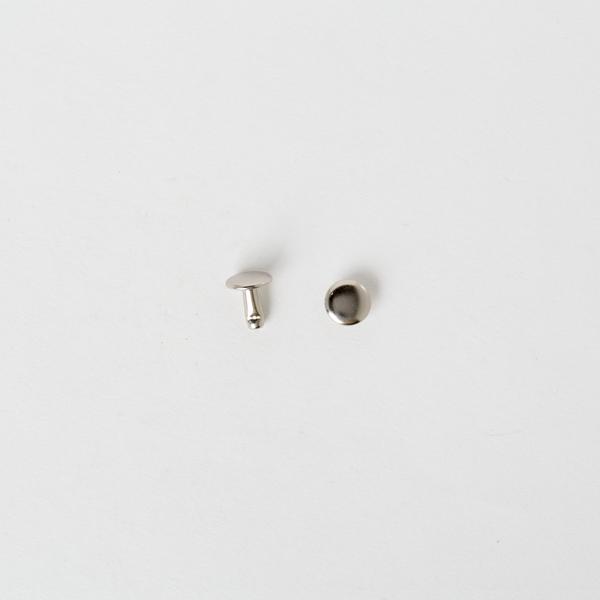 純銅固定釦 鎳白色 8*8mm 100+-5%組 不折扣