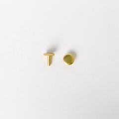 純銅固定釦 黃銅色 10*10mm 100組 不二價
