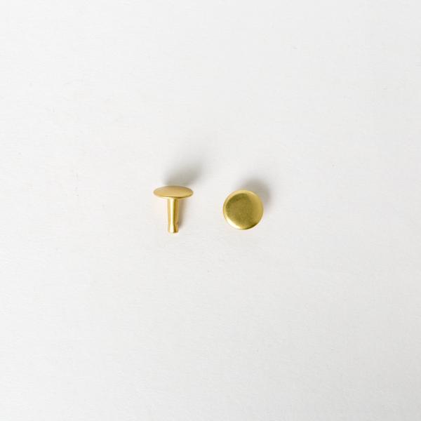 純銅固定釦 黃銅色 10*10mm 100+-5%組 不折扣