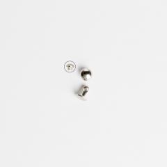 圓凸固定釦 鎳白色 6mm 20組