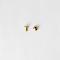 圓凸固定釦 金色 8mm 10組