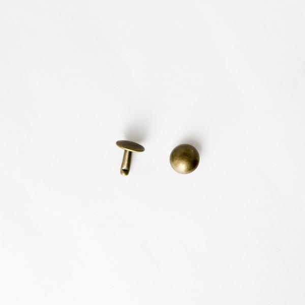 圓凸固定釦 古銅色 8mm 20組