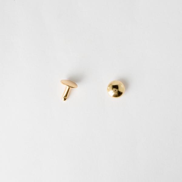 圓凸固定釦 金色 10mm 10組