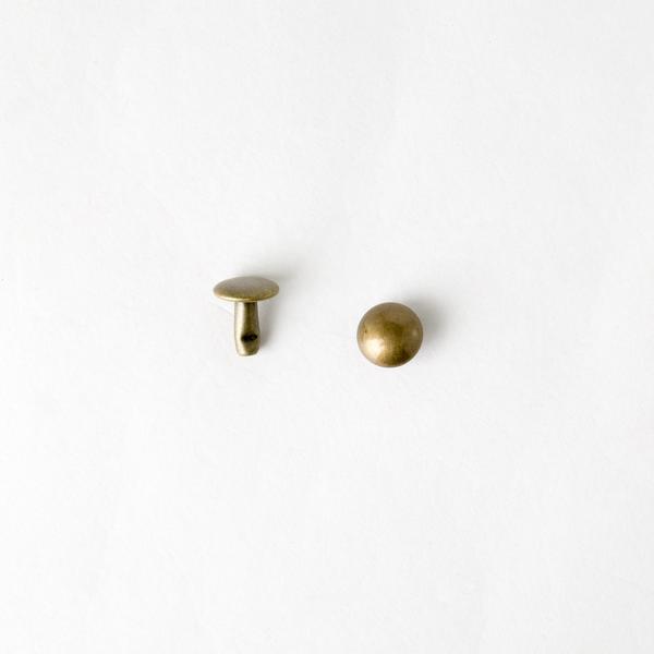 圓凸固定釦 古銅色 10mm 20組