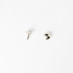 圓凸固定釦 鎳白色 10mm 20組