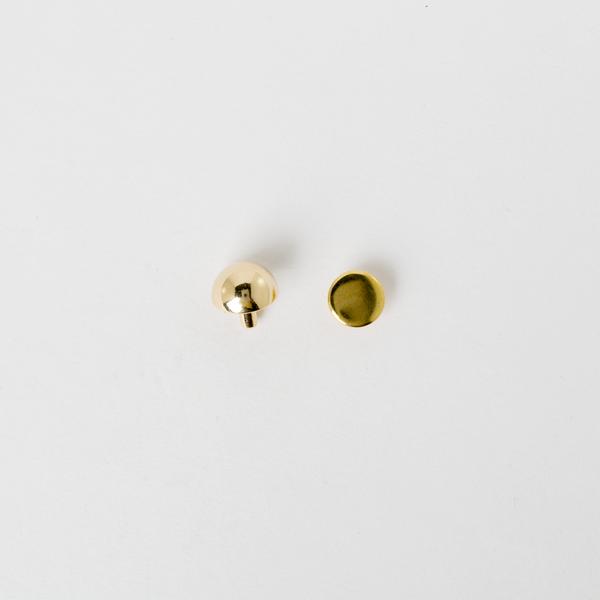皮包圓角釦 金色 12mm 2入