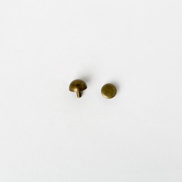 皮包圓角釦 古銅色 12mm 4入