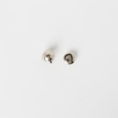 皮包圓角釦 鎳白色 12mm 4入
