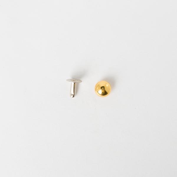 日製圓凸固定釦 金色 9mm 5組