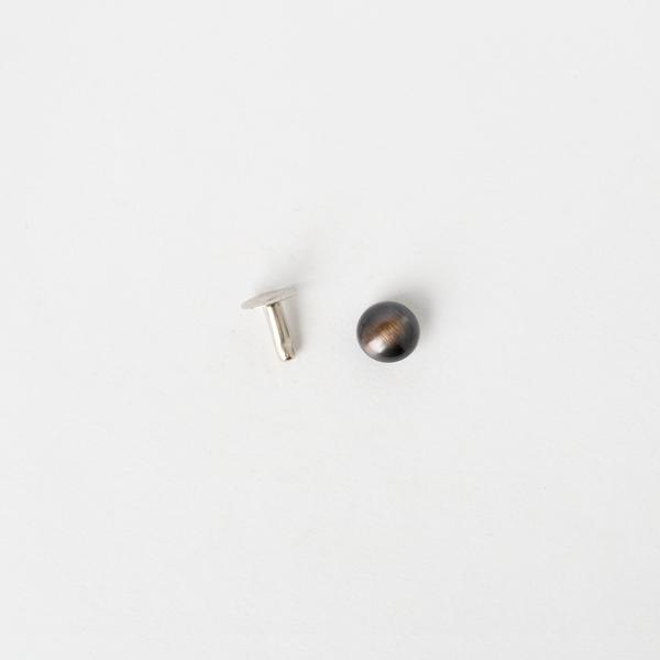 日製圓凸固定釦 古銅色 9mm 5組