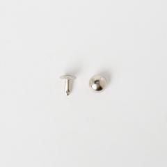 日製圓凸固定釦 鎳白色 9mm 5組