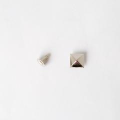日製角釦 鎳白色 10mm 5組