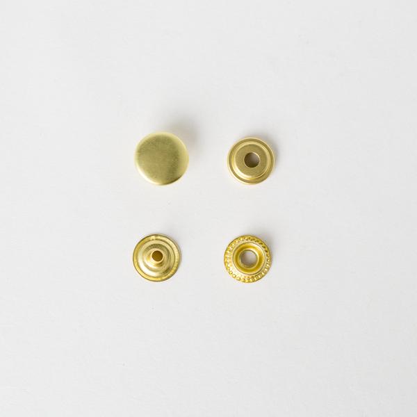 純銅牛仔釦 黃銅色 13mm 5組