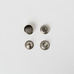 純銅牛仔釦 鎳白色 15mm 4組