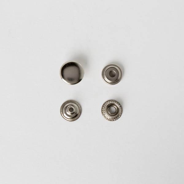 牛仔釦 鎳白色 13mm 100+-5%組 不折扣