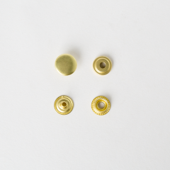 純銅牛仔釦 黃銅色 13mm 50+-5%組 不折扣