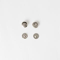 四合釦 鎳白色 10mm 10組