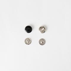 四合釦 烤漆黑色 10mm 10組