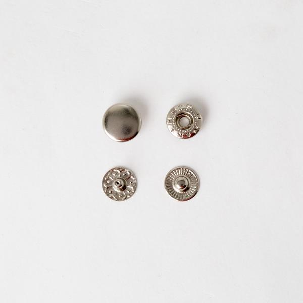 四合釦 鎳白色 12mm 10組