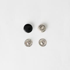 四合釦 烤漆黑色12mm 10組