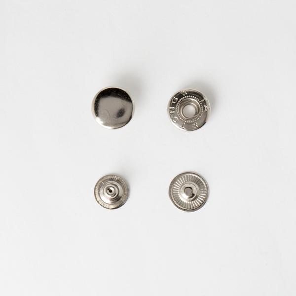 四合釦 鎳白色 15mm 8組