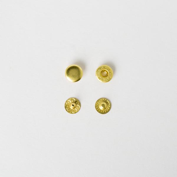 純銅四合釦 黃銅色 10mm 6組