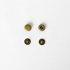 純銅四合釦 古銅色 10mm 6組