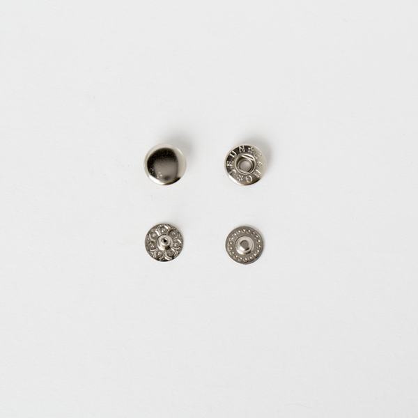 純銅四合釦 鎳白色 10mm 6組